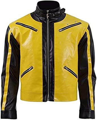 The New Colossus Stylish Wolfenstein II Yellow Leather Jacket
