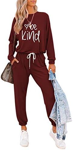 ETCYY Women's Two Piece Outfits Sweatsuit Set Long Pant Pajamas Lounge Set Workout Athletic Tracksuit Jumpsuits Romper