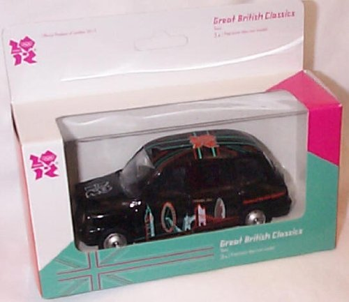 corgi 2012 great british classics olympic black taxi car 1.36 scale diecast model by Corgi