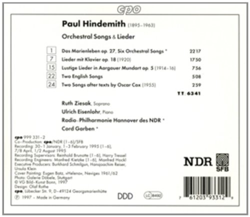 Orchestral Songs & Lieder by cpo