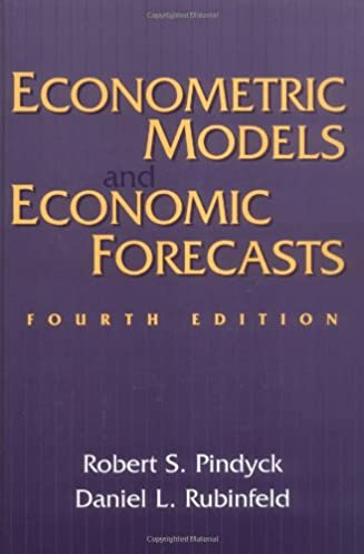 econometric models and economic forecasts 9780079132925 economics rh amazon com Microeconomics Pindyck PDF Robert Pindyck