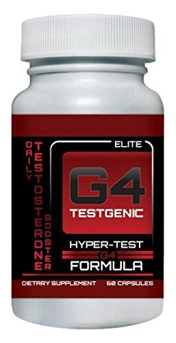 G4 Testgenic Testosterone Booster - Increase Testosterone, Libido & Energy - 9 Powerful Ingredients, 60 Caps