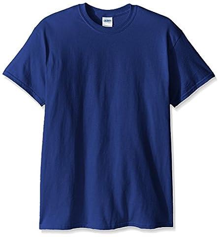 Gildan Men's Ultra Cotton Tee, Metro Blue, Large (Ultra Blue)