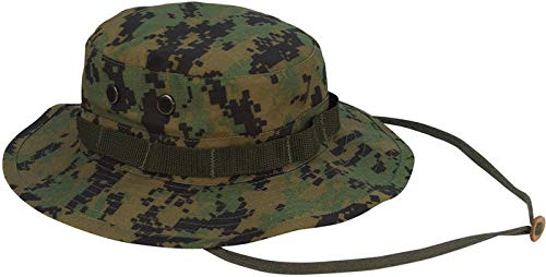 (AccessoriesClothing New Camouflage Military Wide Brim Bucket Camping Hunting Boonie Hat)