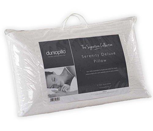 Dunlopillo Serenity Deluxe Full Latex Slim Pillow, White