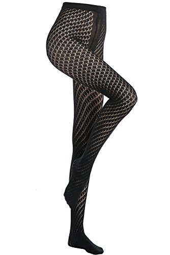 Stocking Fox Women's 60-Denier Geometric Cutout Pattern Tight from Stocking Fox