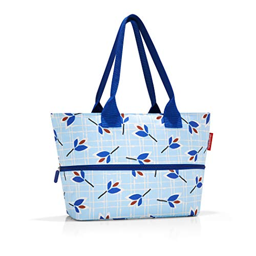 Reisenthel Shopper e1 Strandtasche, 50 cm, 18 L, Blue Leaves