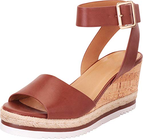 be164ef23ba83 Cambridge Select Women's Open Toe Ankle Strap Chunky Espadrille ...