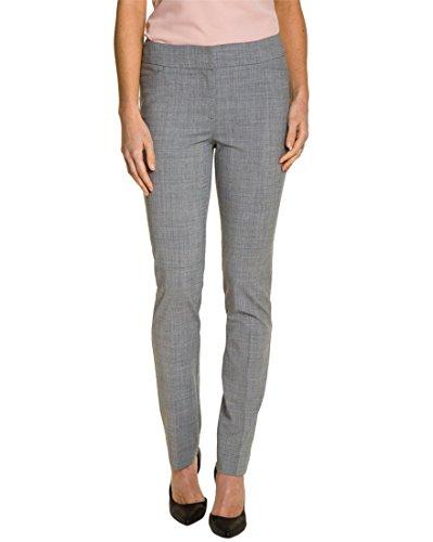 LE CHÂTEAU Sleek Wool Blend Straight Leg Pant,00,Black/Off ()