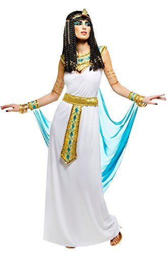 [Queen Cleopatra Costume -  White Small] (Ancient Egypt Costumes)