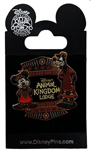 Disney Pin - Animal Kingdom Lodge - Mickey & Goofy - Free D