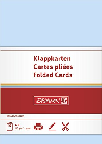 Baier Schneider &Letter Cards/Folding Cards/Business Cards Blank Double Cards 105 x 148 MM, 160 g/M ² Pack of 1 (Business Letter Folding)