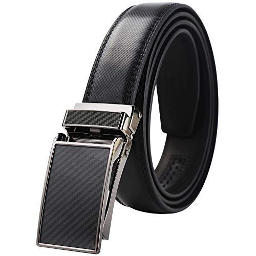 - Lavemi men's Ratchet Comfort Click Slide Leather Dress Belt with Aumatic Buckle,Trim to Fit(55-0199 44