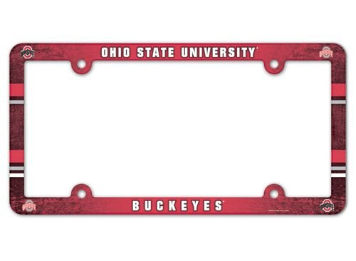 (NCAA License Plate with Full Color Frame, Ohio State University)