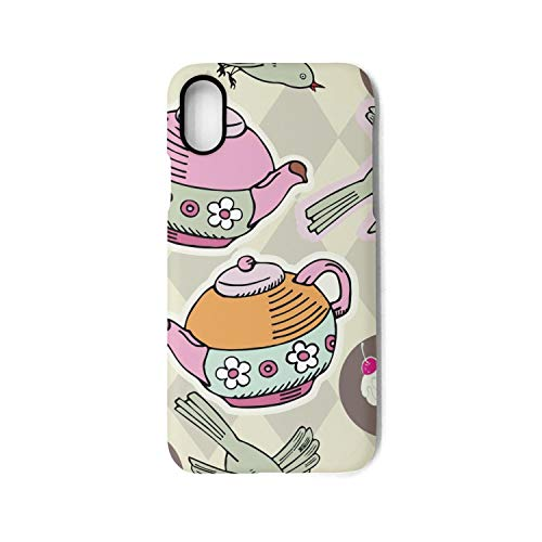 Hiunisyue iPhone X Case English Royal Tea Party Shock Absorption Technology Bumper Soft TPU Cover Case for iPhone X -