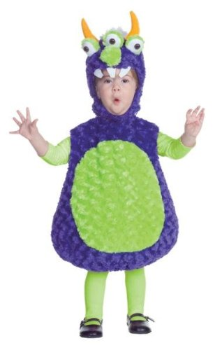 Underwraps Costumes Baby's Three Eyed Monster Belly, Purple/Green, X-Large (Purple Monster)