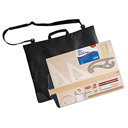 Image of Drawing Alvin, CP900, Drawing Outfit, with 18' x 24' Metal Edge Drawing Board - 18-Piece Set with Carrying Bag