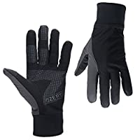 Texting Gloves, OZERO Tech Glove - Windproof and Water Resistant - Light Weight Thin - for Running, Cycling, Riding, Outdoor Sports in Winter - for Women and Men - Black (M,L,XL)