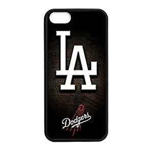 iPhone 5/5s TPU Cover Case with Los Angeles Dodgers Design (Laser Technology)-by Allthingsbasketball