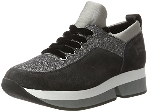 FornarinaPI18SL1080VR01 Sneaker Wedge Glitter Winter Collection 2017 - Fornarina Wedge Womens