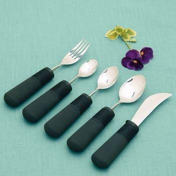 Grip Bendable Utensils (Sammons Preston Good Grips Bendable Utensils (Set of 4(fork, Teaspoon, Tablespoon, Rocker Knife)))
