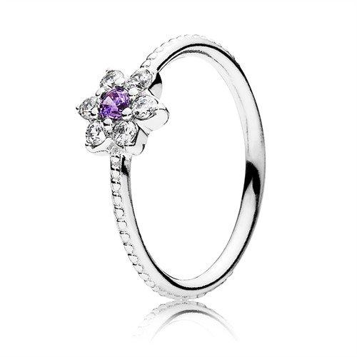 comprare popolare 8c365 c203a Pandora anello Nontiscordardime fiore 190990 ACZ: Pandora ...