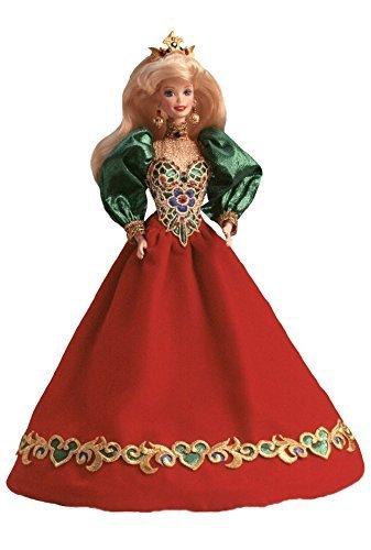 Holiday Porcelain - Mattel 1995 Holiday Jewel Porcelain Barbie