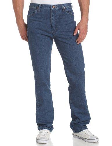 Wrangler Men's Cowboy Cut Slim Fit Jean, Stonewashed, 34x36 - Heavyweight Stonewashed Denim