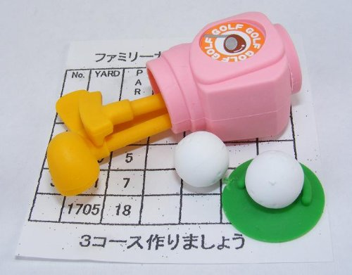 Dream golf set pink Japanese Erasers