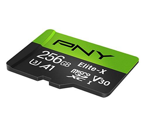 PNY Elite-X microSD 256GB, U3, V30, A1, Class 10, up to 100MB/s – P-SDU256U3100EX-GE by PNY (Image #1)'