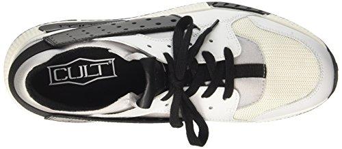 Cult Lemmy Low 1488, Sneaker a Collo Basso Uomo Multicolore (White/Black)