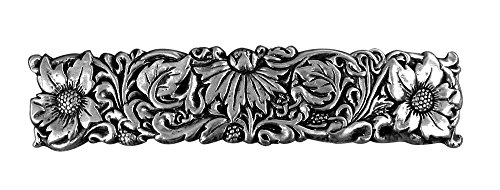 Wildflower Hair Clip - Hand Crafted Metal Barrette Made in the USA with imported French Clips By Oberon Design