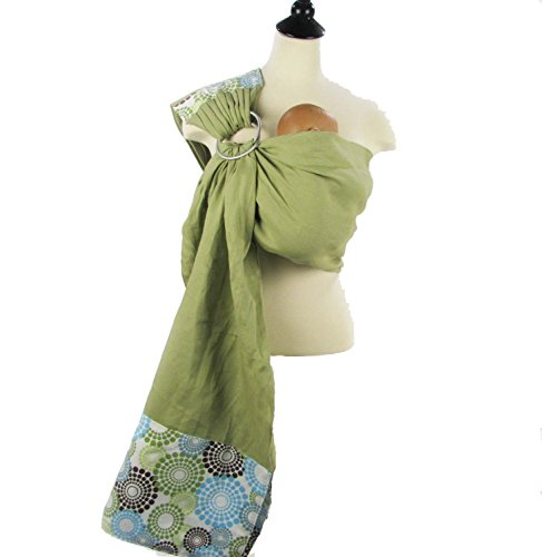Snuggy Baby Linen Banded Ring Sling – Spa Fizz