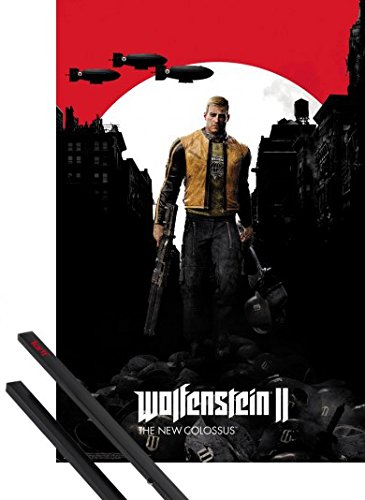 Price comparison product image 1art1 Poster + Hanger: Wolfenstein Poster (36x24 inches) 2