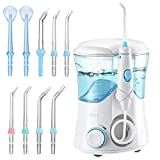 Habor Water Flosser, 9 Multifunctional Tips Oral Irrigator with 10 Stepless Water Pressure