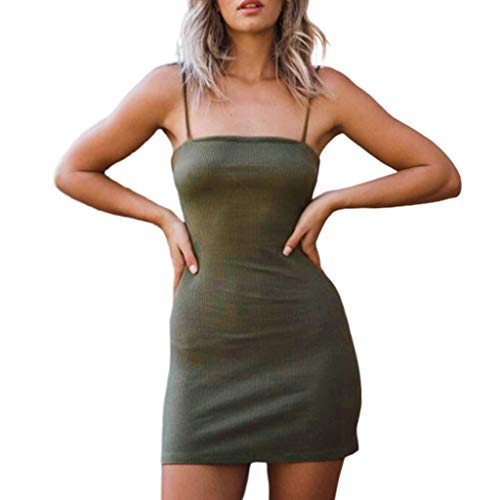OPTIMIS Womens Halter Backless Bandage Dress Low Cut Ruched ...