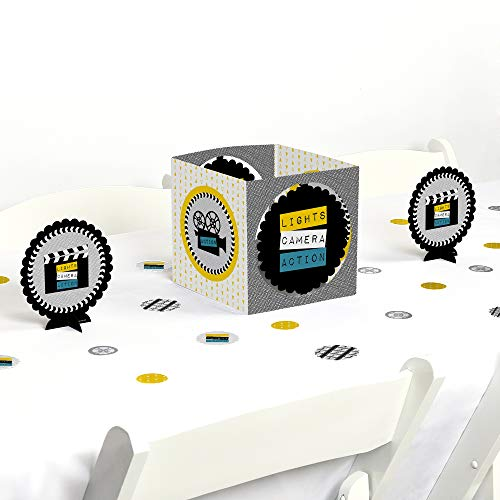 Big Dot of Happiness Movie - Hollywood Party Centerpiece & Table Decoration -