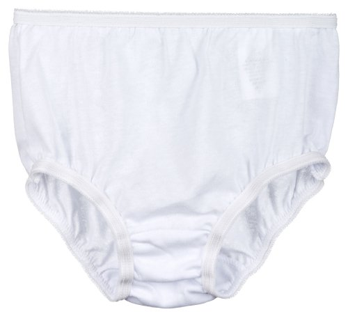 I.C. Collections Little Girls White Cotton Brief Panties, Size 03