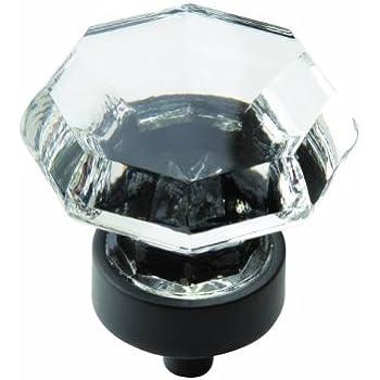 Amerock Traditional Classics 1-1/4 in. (32mm) Cabinet Knob Crystal/Black Bronze - BP55268CBBR