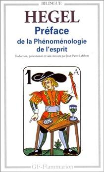 Book's Cover ofPréface de la Phénoménologie de l'esprit