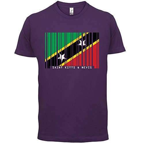 Saint Kitts and Nevis / St. Kitts und Nevis Barcode Flagge - Herren T-Shirt - Lila - S