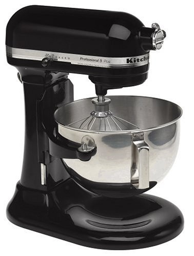 KitchenAid Professional HD Series Stand Mixer RKG25HOXOB , 5-Quart, Onyx Black, (Renewed) (Kitchenaid Mixer Covers 5 Quart)