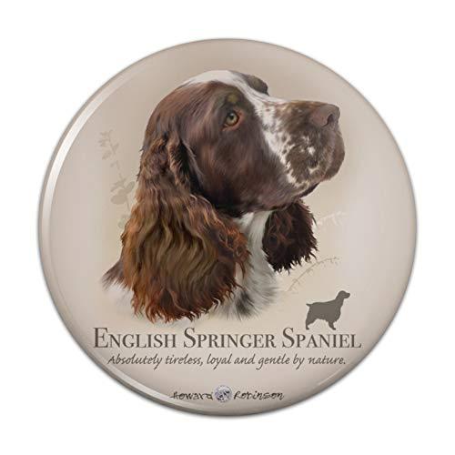 (English Springer Spaniel Dog Breed Pinback Button Pin Badge - 2.25