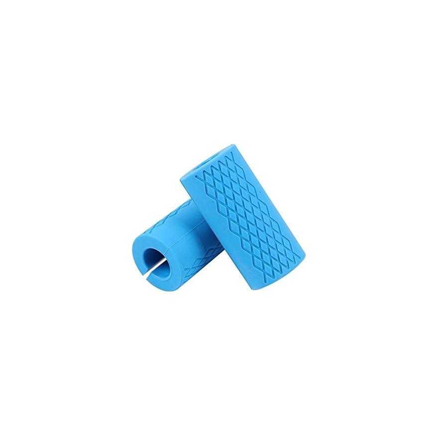Thick Bar Fat Grips Weightlifting Fat Bar Grips Weight Machine Grips Blue