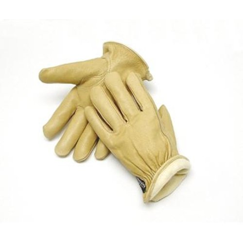Color Coded Hem And Shirred Elastic Wrist Radnor X-Large Tan Pigskin Thinsulate Lined Cold Weather Gloves With Keystone Thumb Slip On Cuffs