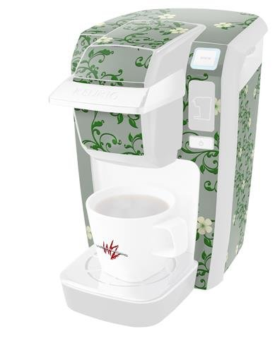 Skin Victorian Air - Victorian Design Green - Decal Style Vinyl Skin fits Keurig K10 / K15 Mini Plus Coffee Makers (KEURIG NOT INCLUDED)