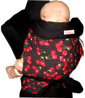 MEI TAI Baby Sling Carrier : Cherry on Black by Enjoybaby   B00KNHXDD6