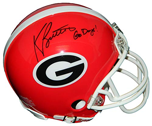 Kevin Butler Signed University of Georgia Bulldogs Riddell Mini Helmet w/Go Dawgs