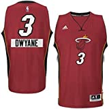 Heat 3 Dwyane Wade Red 2014-15 Christmas Day Swingman Jerseys Size-L