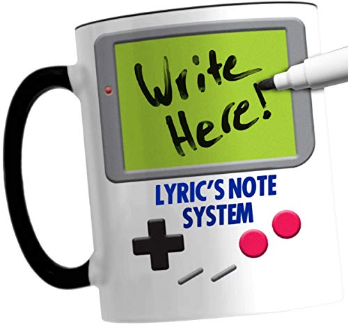 LYRIC Retro Video Game Parody Mug And Dry Erase Marker